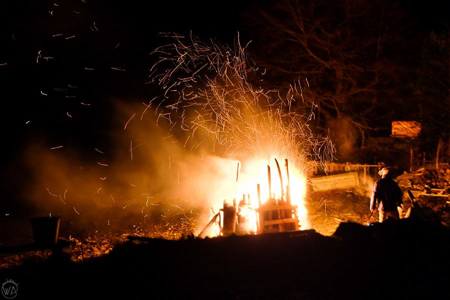 Bonfire New Year's Eve in Scotland Highlands Hogmanay
