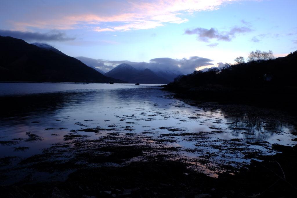 New Year's Eve in Scotland Highlands sunrise