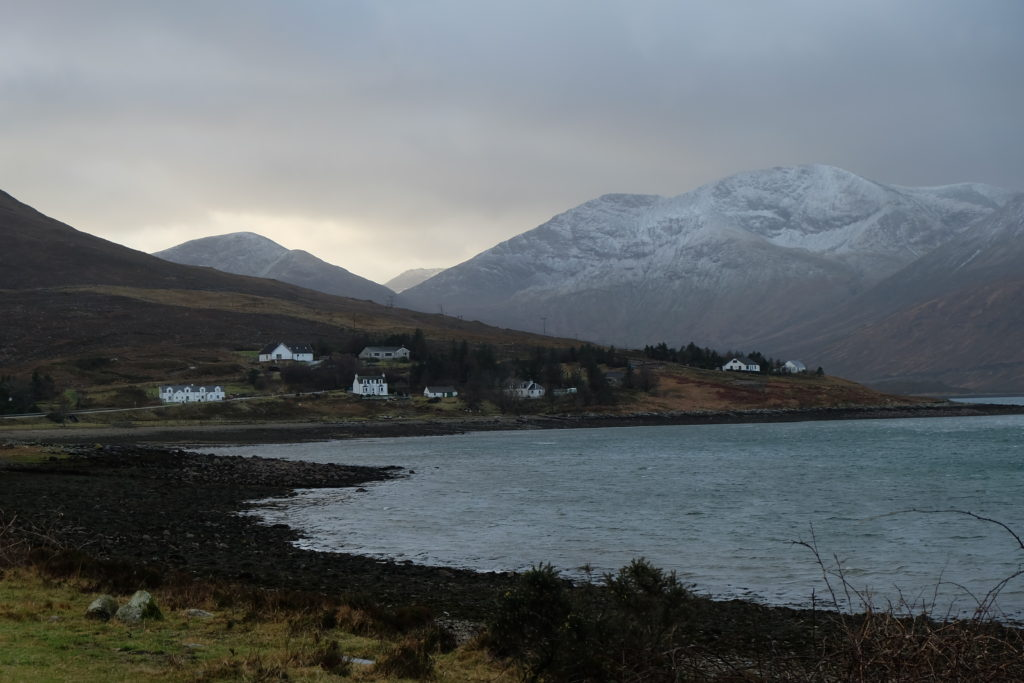 New Year's Eve in Scotland Highlands Isle of Skye view