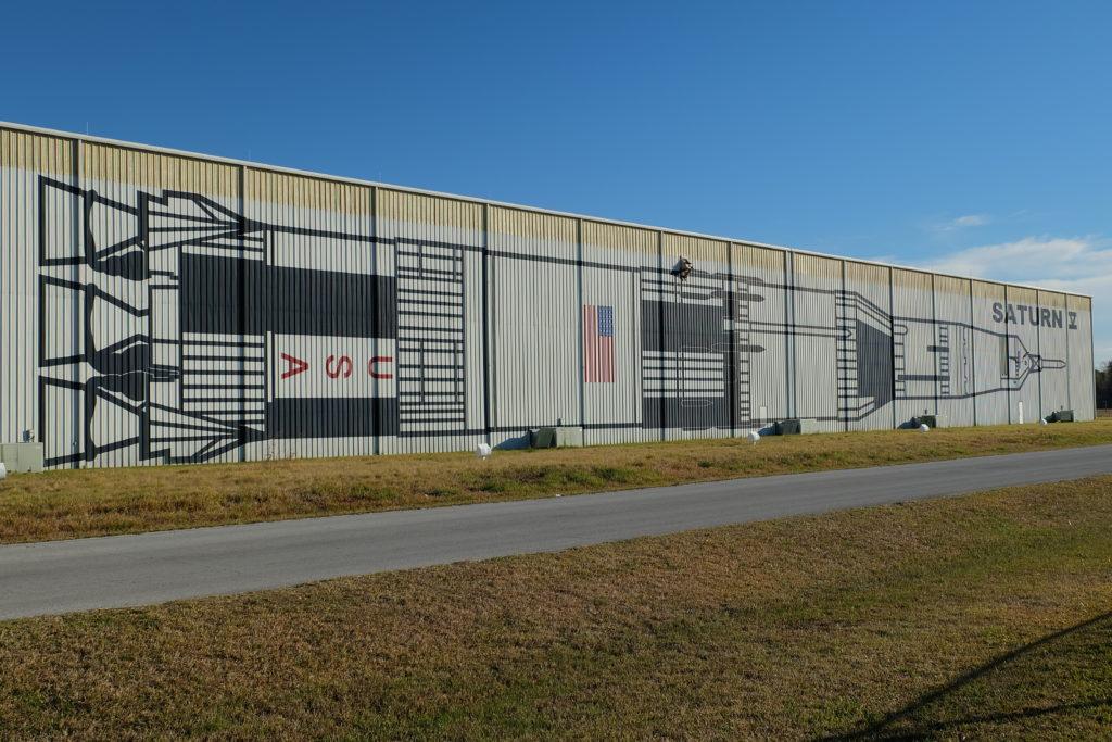 Hangar z Saturnem V NASA HOUSTON, USA
