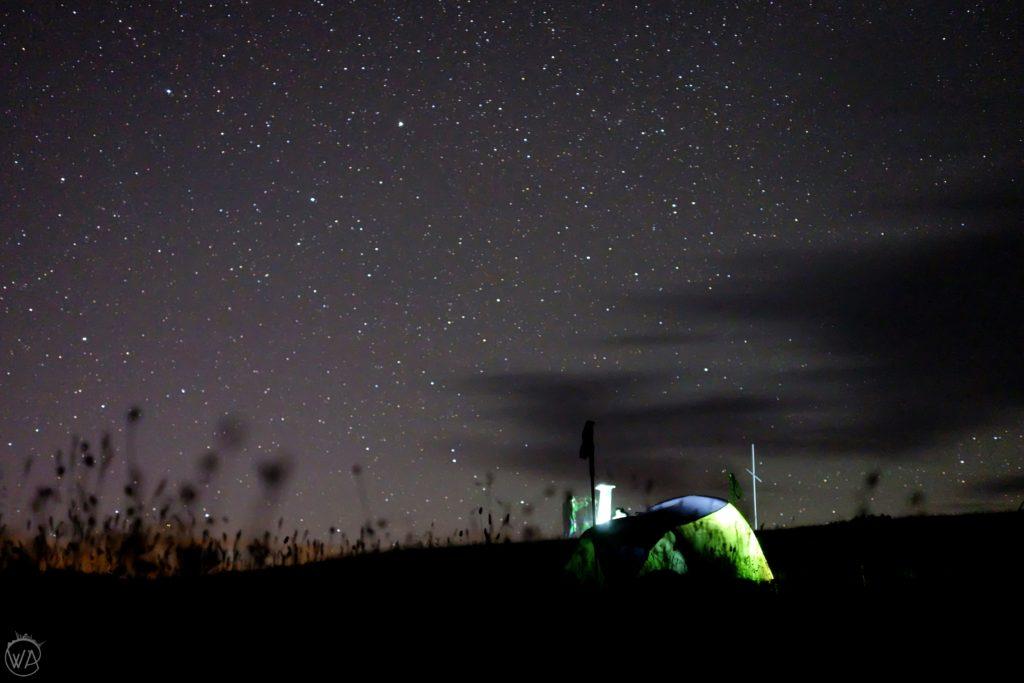 wild camping in tent in Georgia