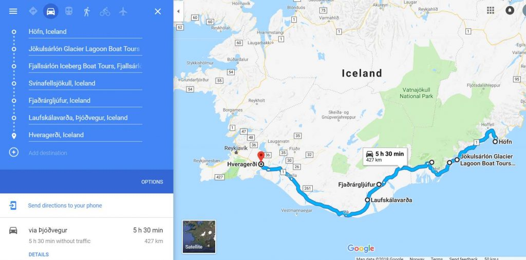 day 6 iceland road trip itinerary road map iceland in 7 days