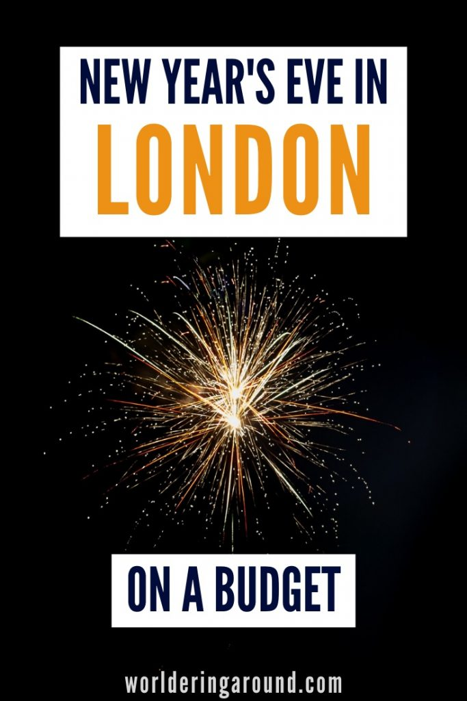 Tips to spend London New Year's Eve on a budget + where to watch London New Year's Eve fireworks for free with a MAP. Have amazing New Year in London for cheap, find London accommodation, travel and activities to do during New Year's Eve in London, London New Year Fireworks | Worldering around #London #UK #travel #Europe #NewYear #NYE #fireworks