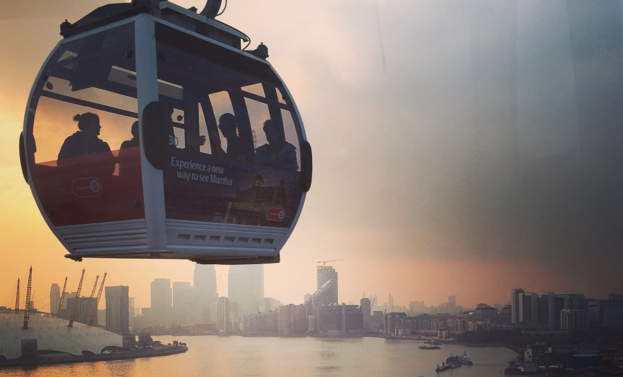 London New Year's Eve emirates cable car