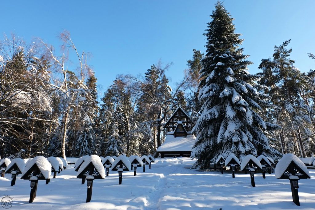World War I cementary in Magura, winter in Poland