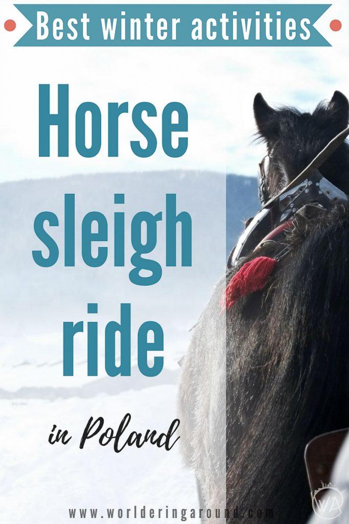 Horse drawn sleigh ride experiencing winter in poland for Where can i go horseback riding near me
