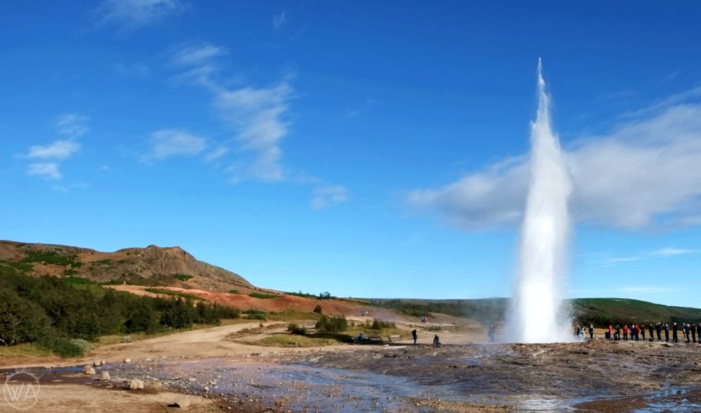 Iceland Strokkur geyser must-see in Iceland in 7 days road trip itinerary