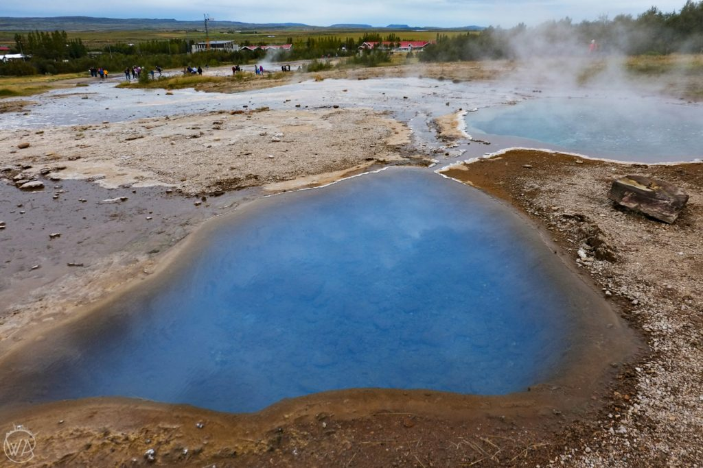 Iceland geyser area