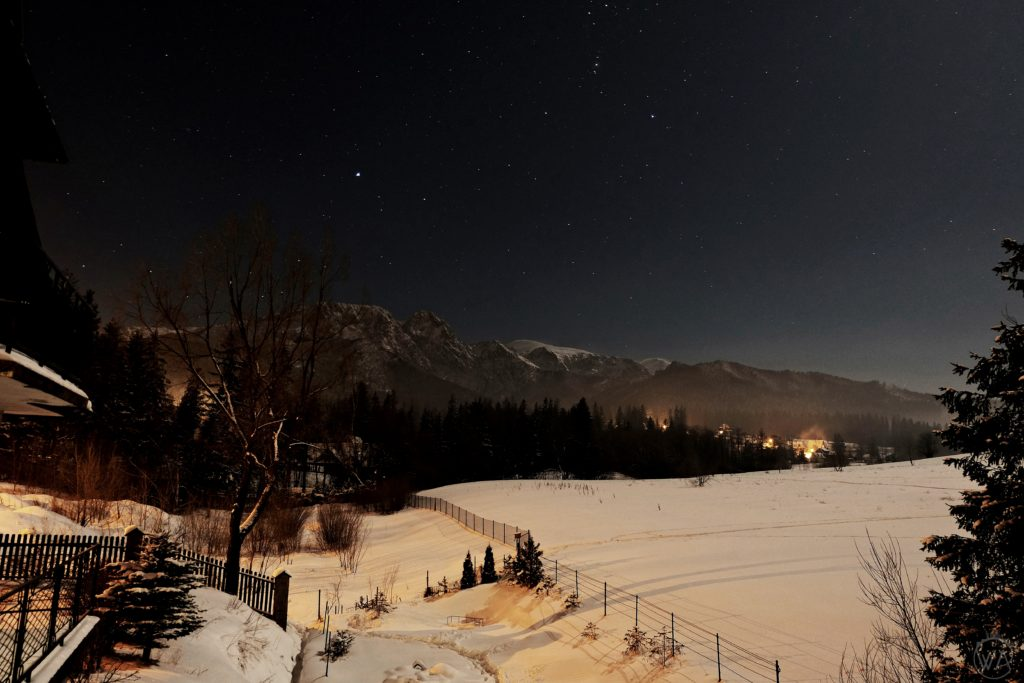 Zakopane view night