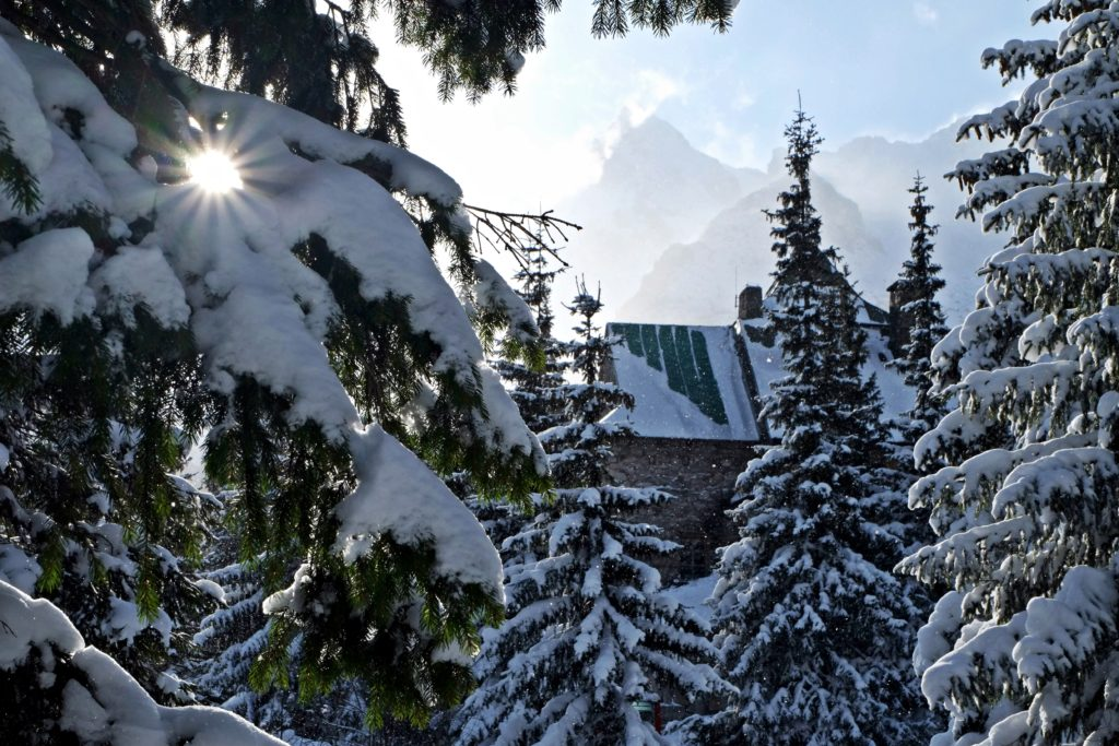 Murowaniec mountains hut, tatra mountains winter