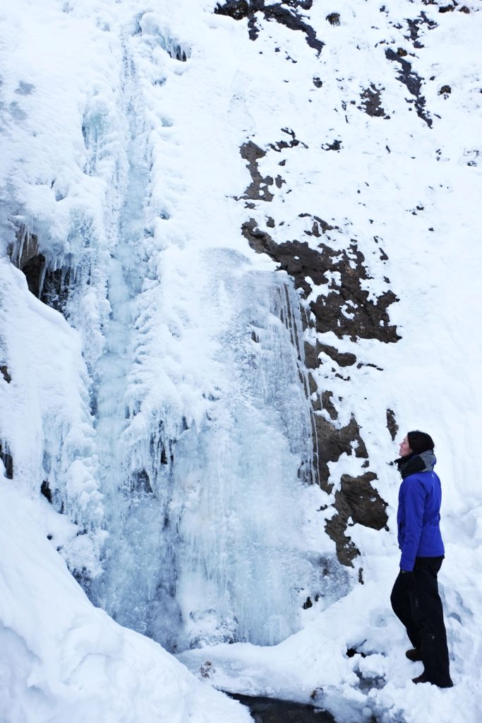 Siklawica frozen waterfall - Things to do in Zakopane in winter and Tatra mountains hiking in winter