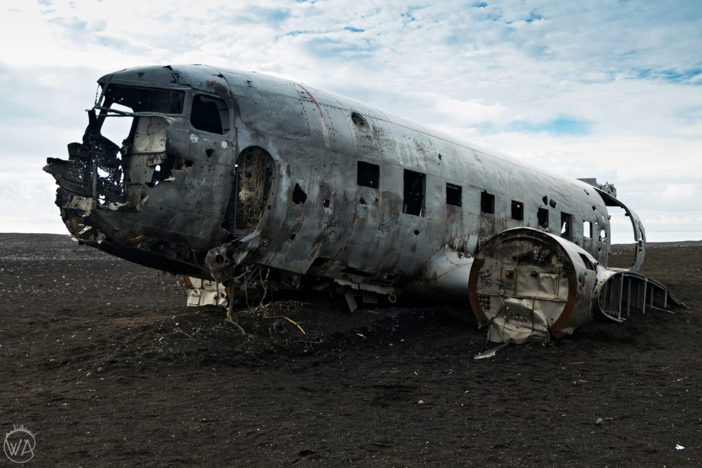 DC-3 plane crash site black beach Sólheimasandur Iceland