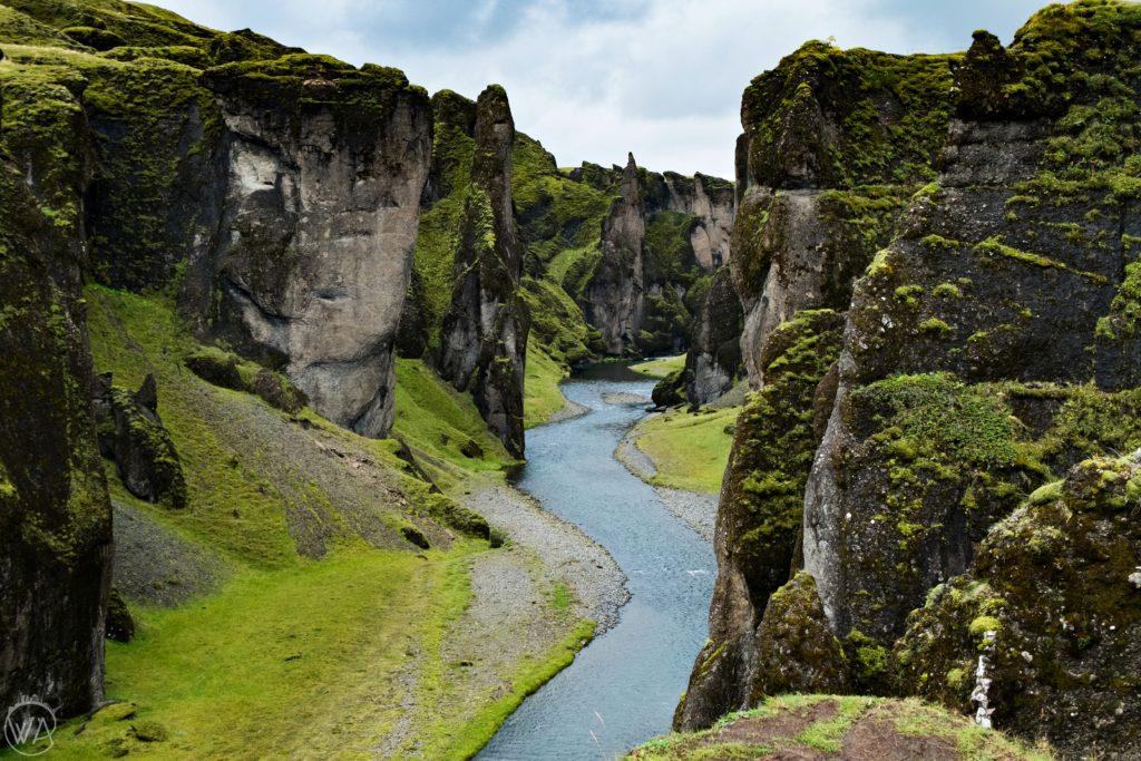 Iceland off the beaten path with hidden gems map - Fjaðrárgljúfur canyon Iceland