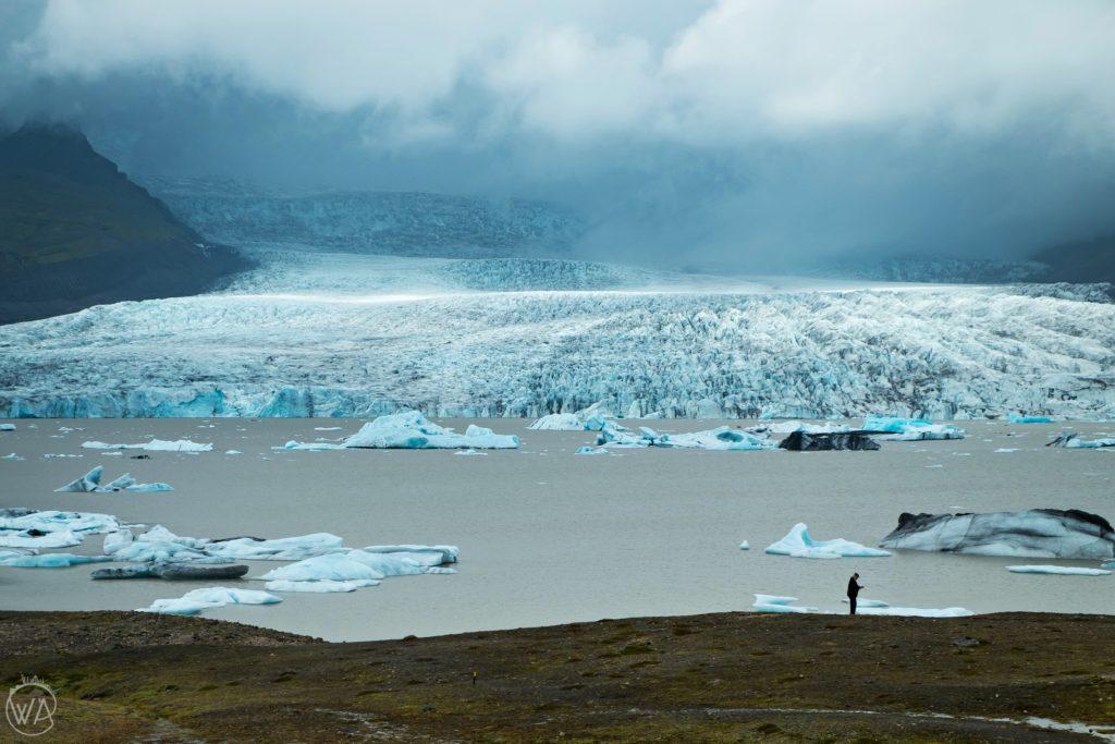 Iceland off the beaten path - View on Fjallsárlón Iceland