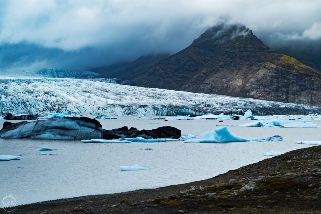 Iceland off the beaten path - Fjallsárlón glacier lagoon Iceland