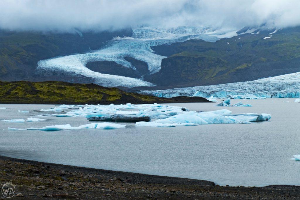 Iceland off the beaten path - Fjallsárlón lagoon landscape in Iceland