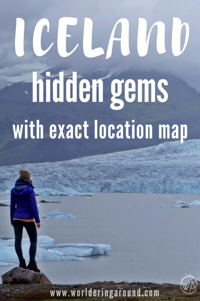 Iceland gems with exact location map (FREE). Discover Iceland off the beaten path, pictures and exact map of all the locations | Worldering around #Iceland #hiddengems #offthebeatenpath #travel #island #europe