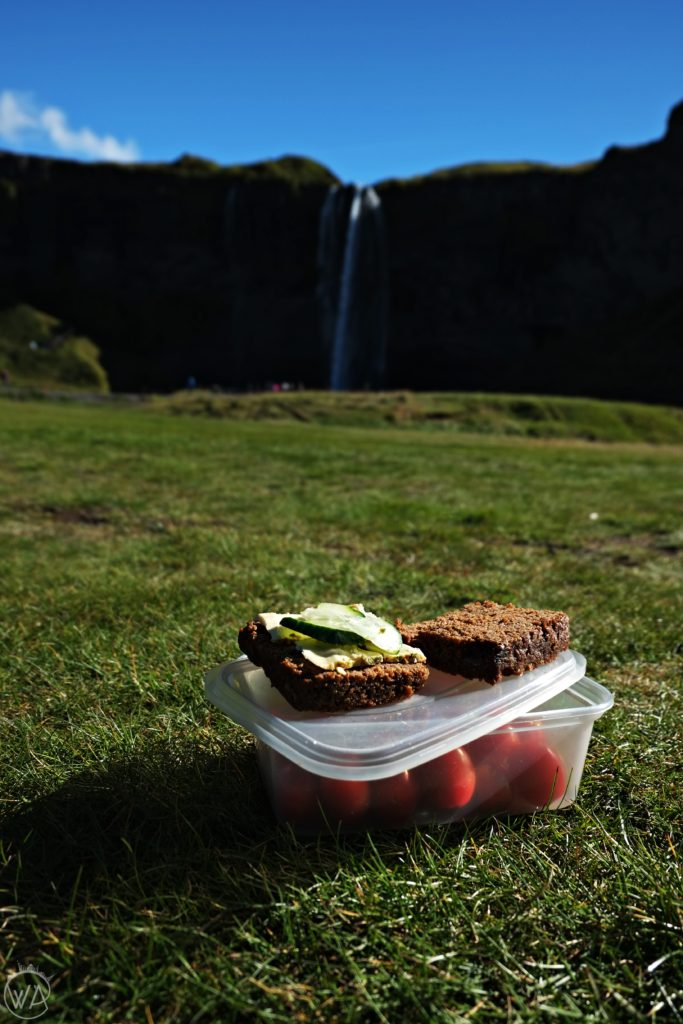 The best budget food in Iceland next to Skogafoss