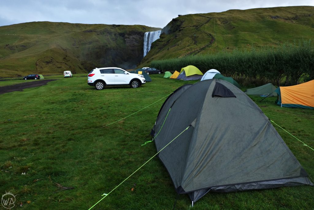 Camping in Skogafoss - Iceland on a budget. Where to stay and eat to lower the Iceland trip cost + Iceland prices