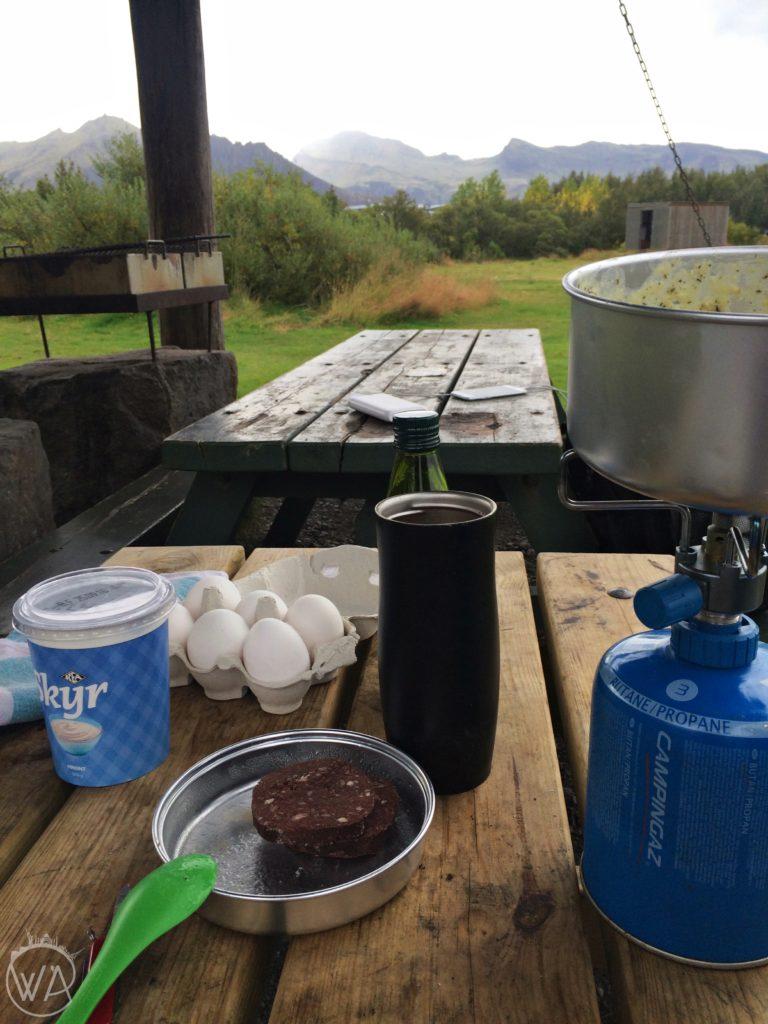 Iceland skyr black pudding