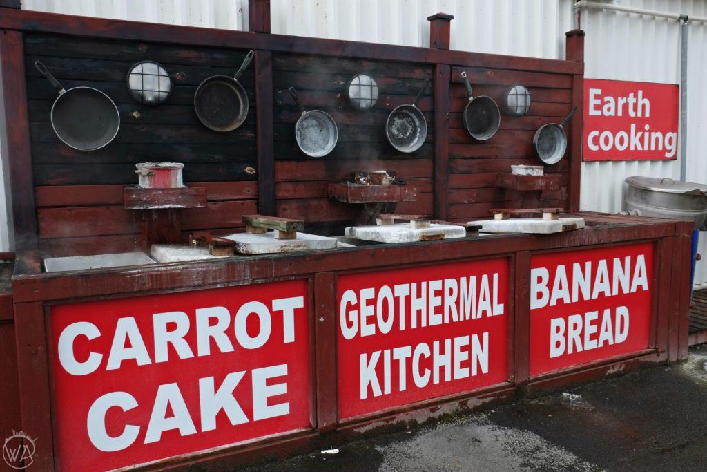 Geothermal cooking restaurant