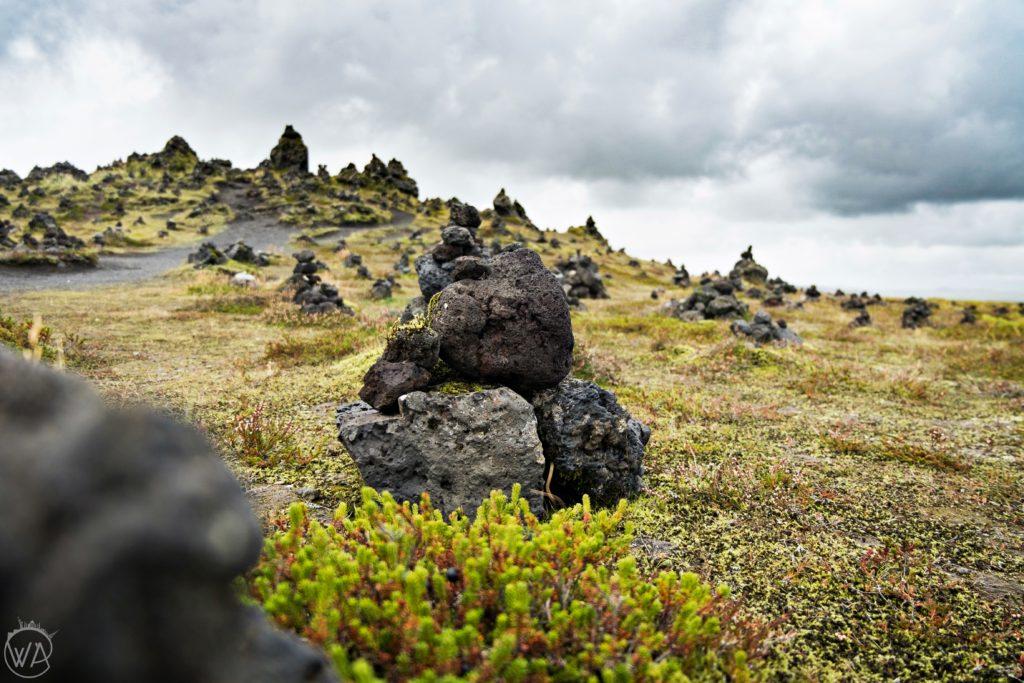 Iceland off the beaten path with hidden gems map - Laufskálavarða – rock piles in Iceland