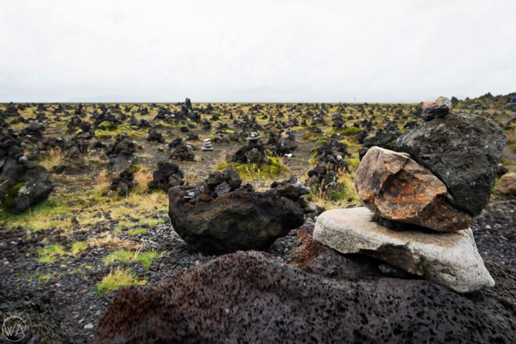 Piles of rocks Iceland