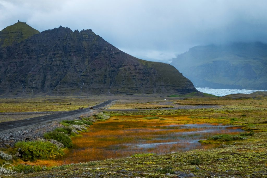 Iceland off the beaten path with hidden gems map - Picture of a road to Svínafellsjökull glacier Iceland
