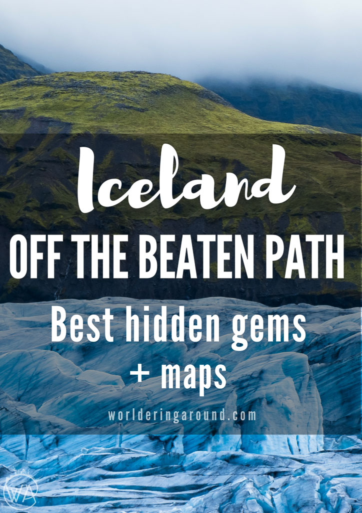 Iceland off the beaten path with map of the hidden gems to discover! | Worldering Around #Iceland #offthebeatenpath #hiddengems #travel #europe