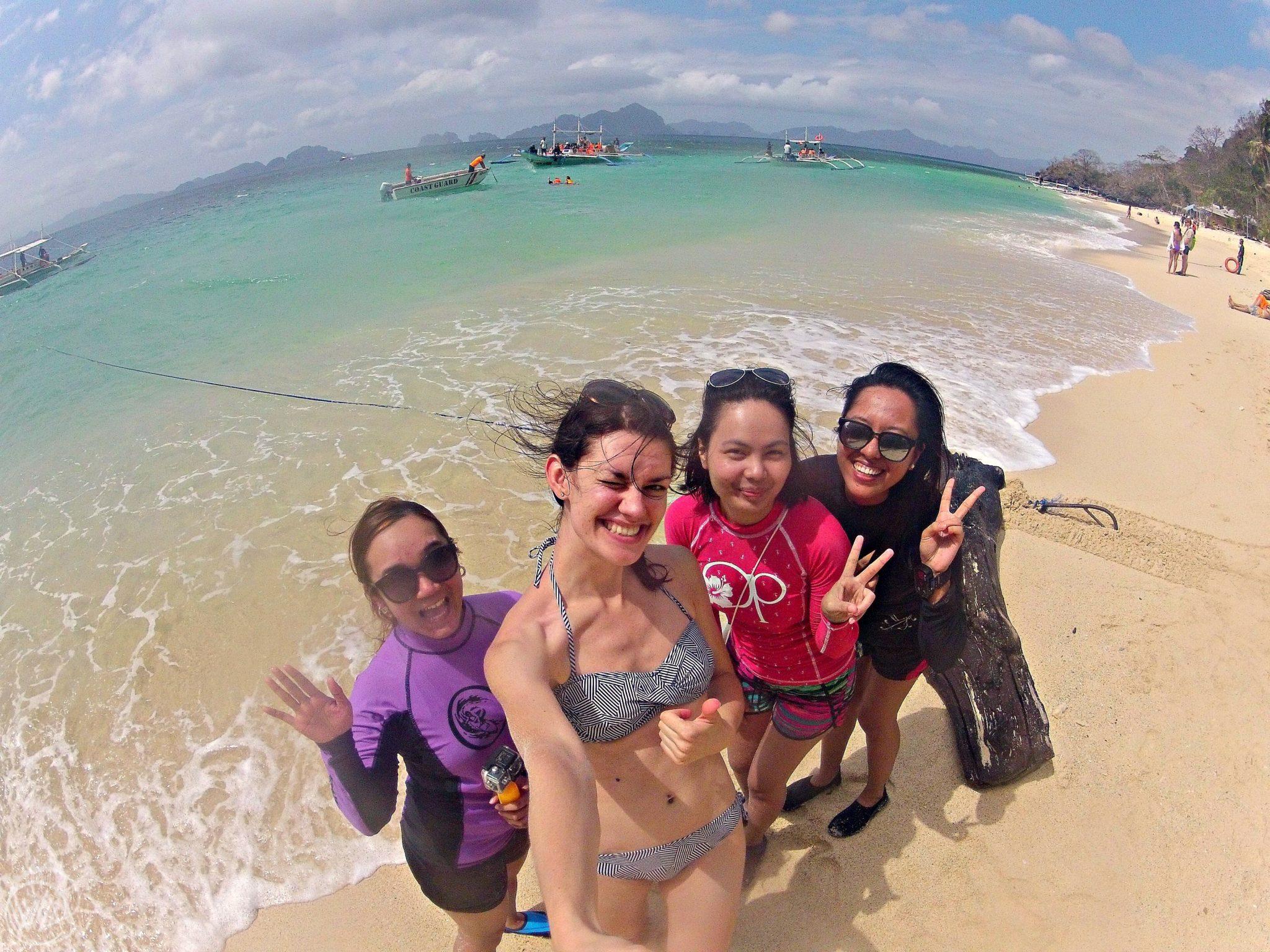 on the beach Philippines