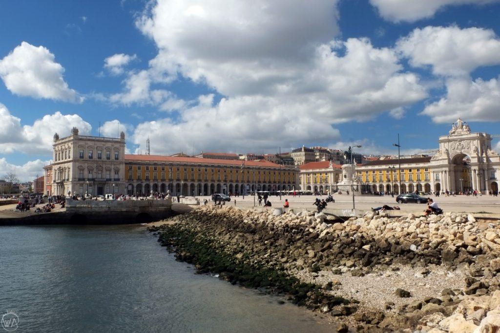 The Praça do Comércio during the sunny day
