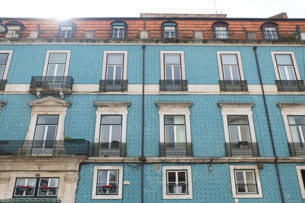 Buildings in Lisbon, tiles