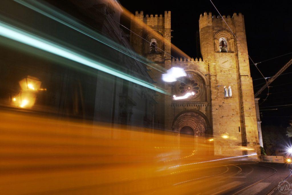 Cathedral Alfama Lisbon tram 28