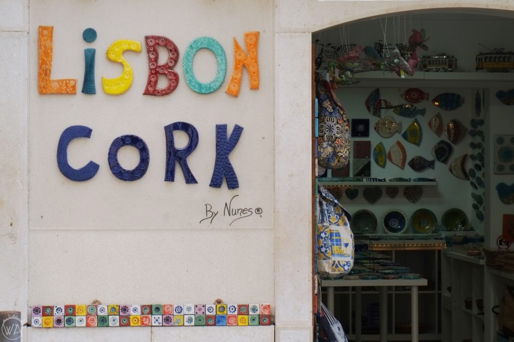 Cork shop Lisbon Alfama