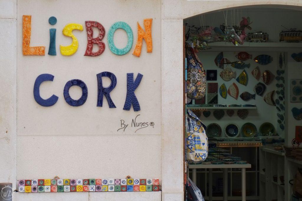 Cork shop Lisbon Alfama