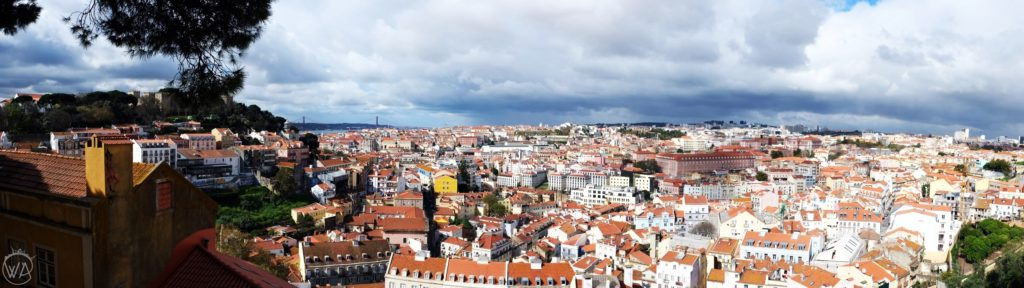 Panoramic view on Lisbon