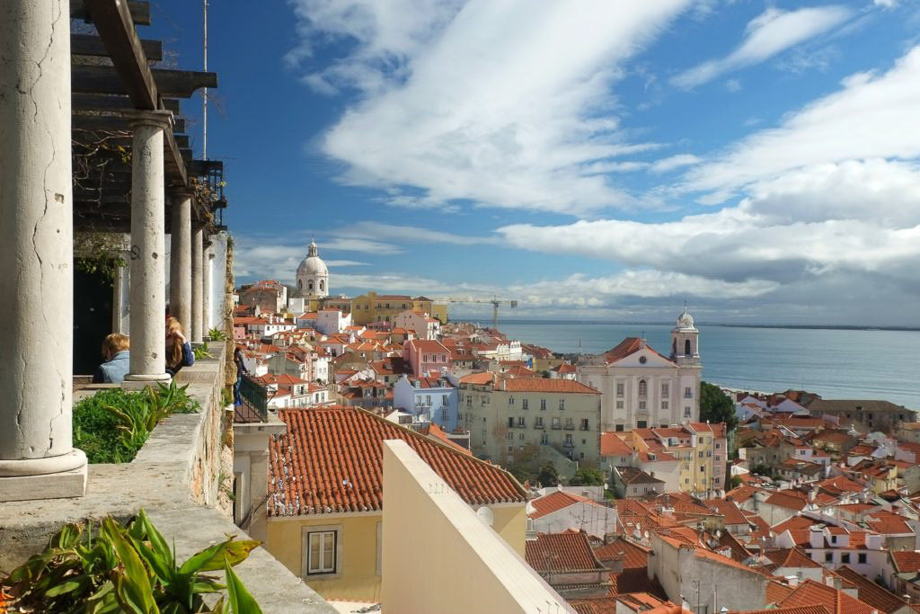 Miradouro Lisbon Portugal Alfama - Best Portugal road trip itinerary - how to spend 4 days in Portugal