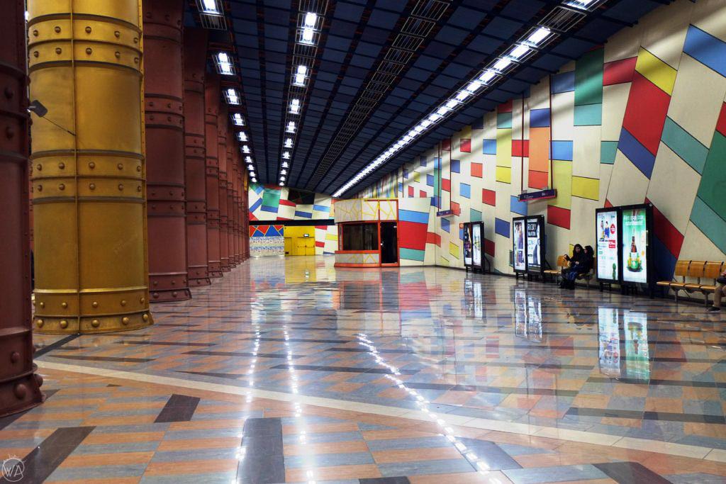Metro station in Lisbon