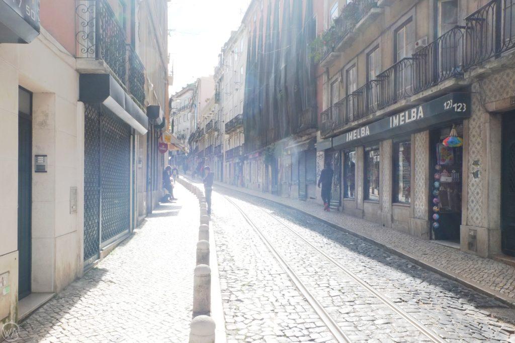 Sunny street in Lisbon
