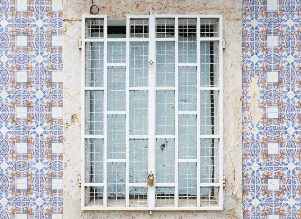 Ceramic azulejos in Lisbon Portugal