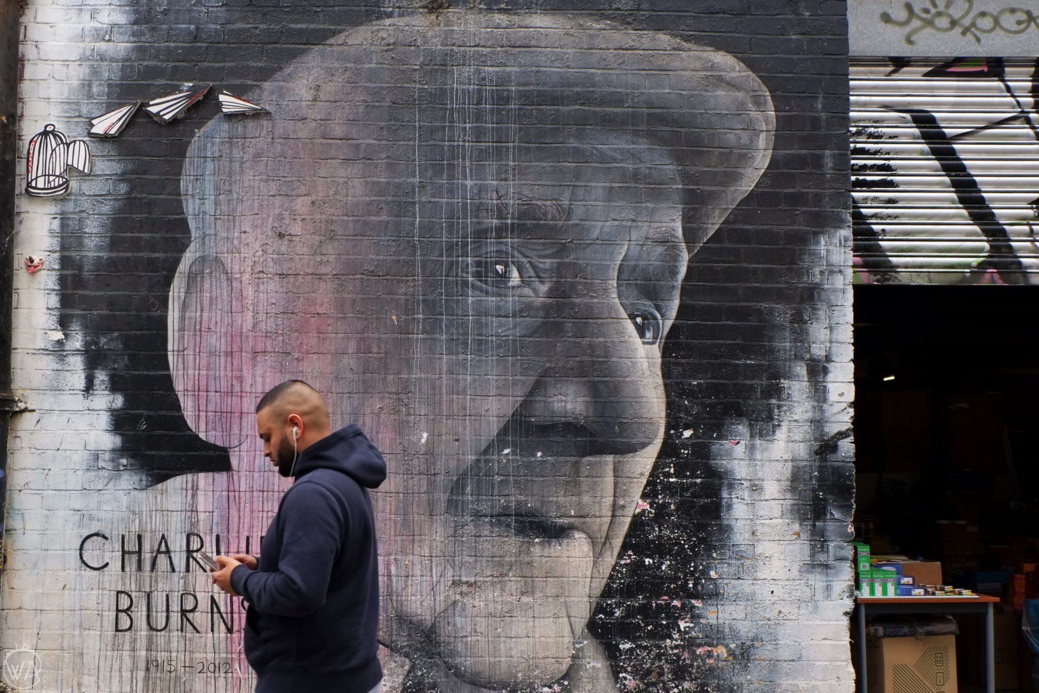 Charlie Burns, Brick Lane, London