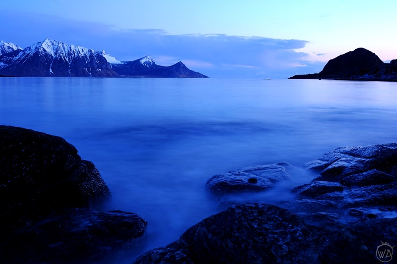 white night in Lofoten, Norway