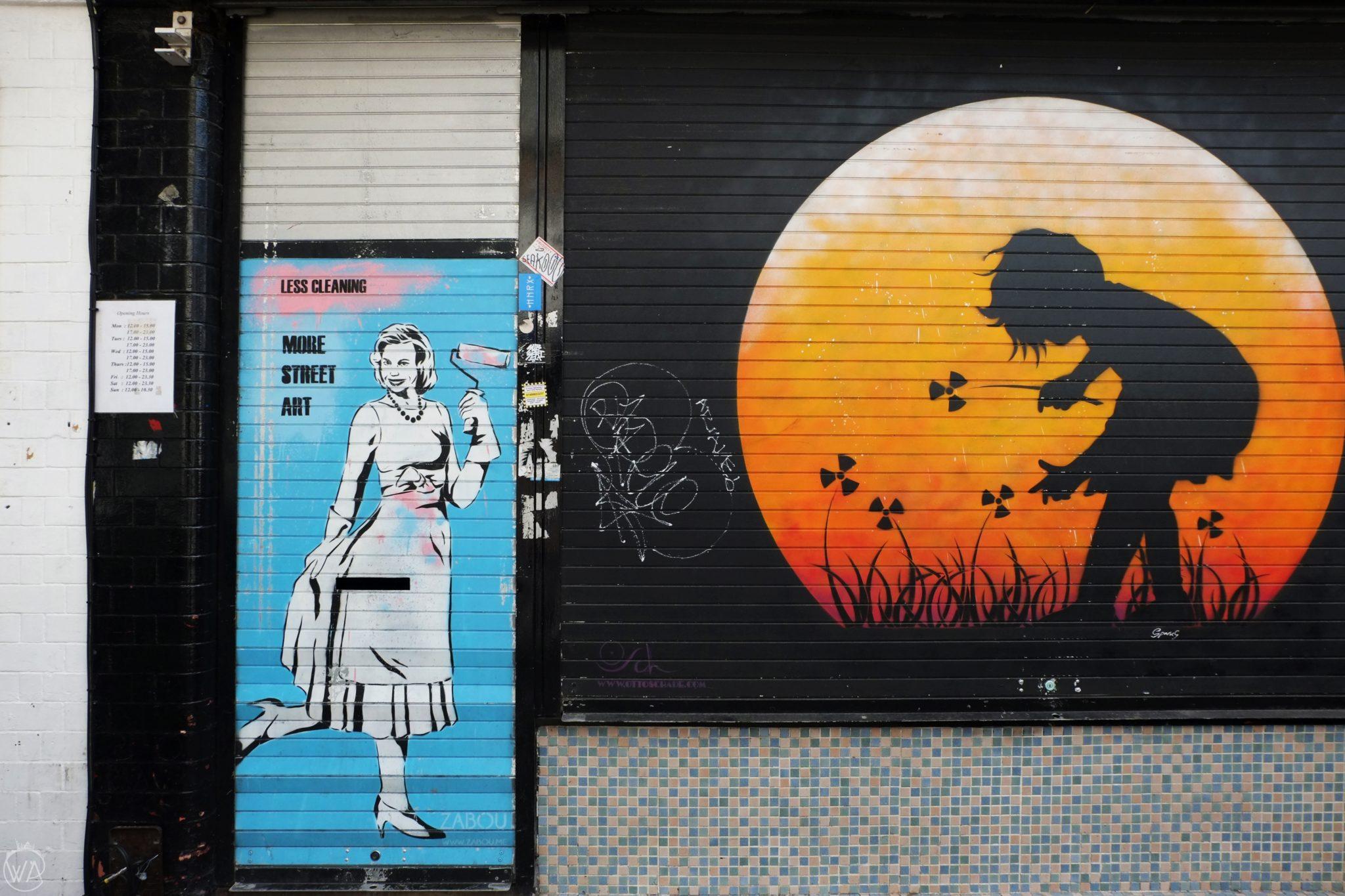 Radioactive flowers street art London