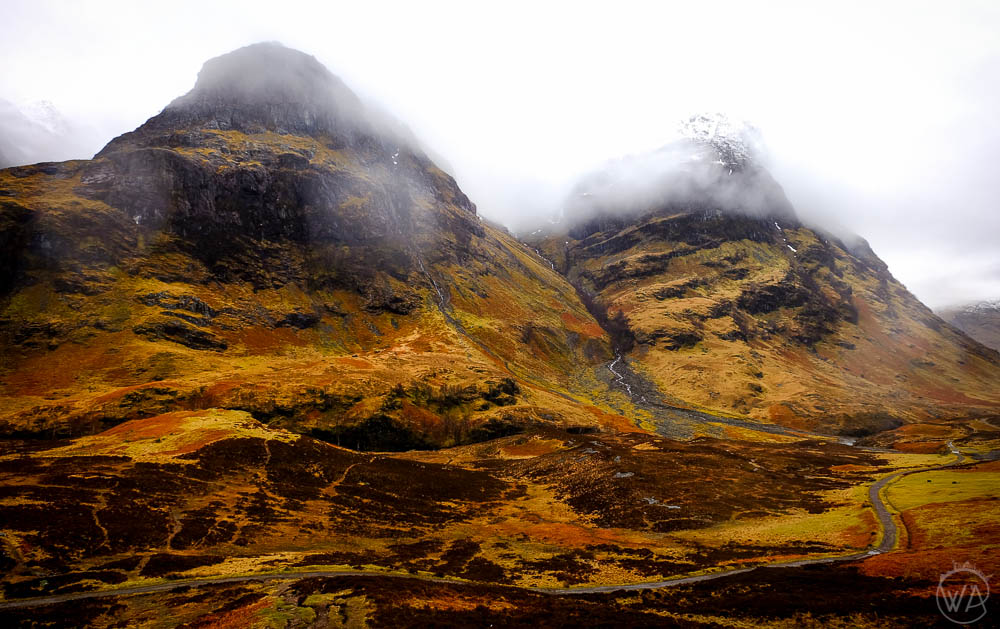 Mysterious mountains of Glen Coe in Scotland