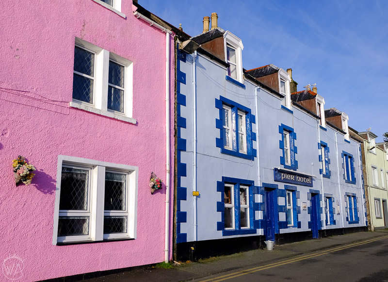 Colourful houses in Portree, Isle of Skye Scotland