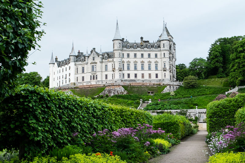 Dunrobin Castle in Sutherland on north coast 500 road in Scotland
