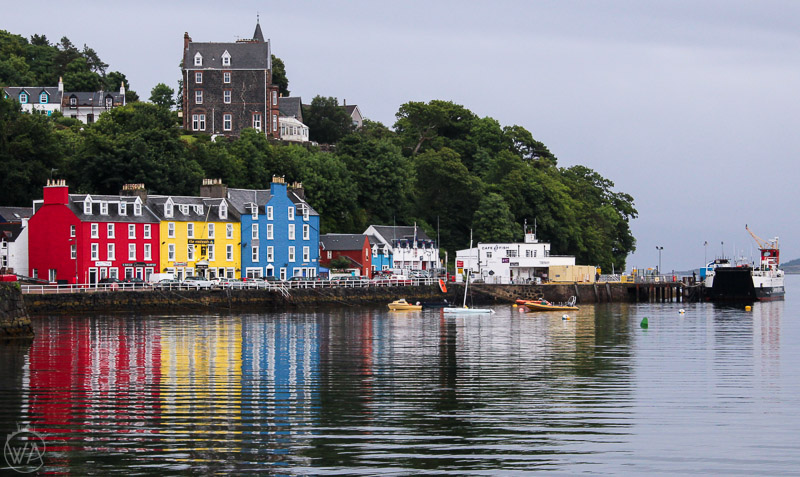 Colourful houses in Tobermory in Scotland, Isle of Mull