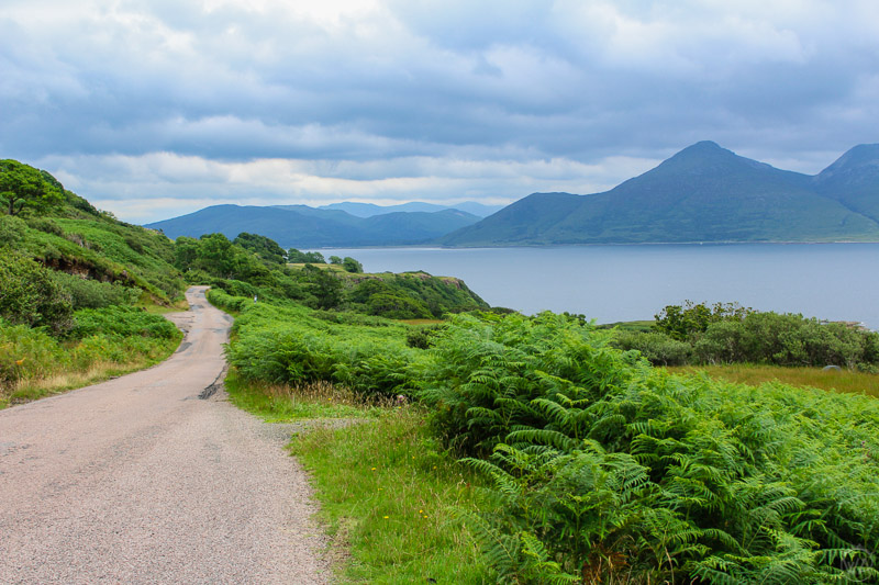 Roads to the boat to Isle of Ulva, Isle of Mull