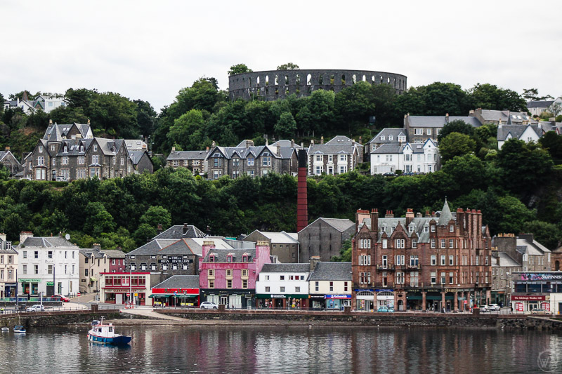 Oban seen from the ferry to Isle of Mull