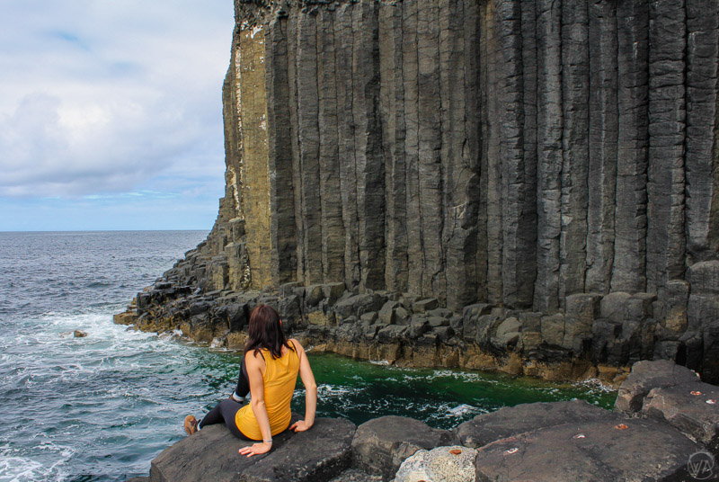 Just outside the Fingal's Cave in Isle of Staffa